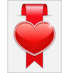 Ribbon with Heart vector image vector image
