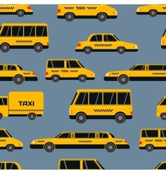 Seamless pattern of taxi icons vector