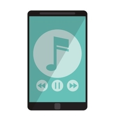 Smartphone music note digital app vector