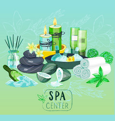 Spa background with organic products vector