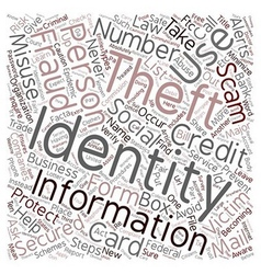 Steps You Can Take to Prevent Identity Theft text vector image vector image