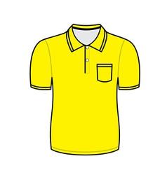 Yellow polo shirt outline vector