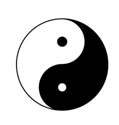 yin yang icon isolated on white background yin vector image
