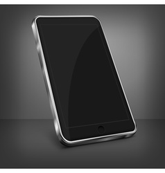 Mobile phone on black vector