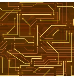 Seamless high tech background with circuit board vector