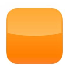 Orange glossy button blank icon square empty shape vector