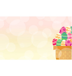 Easter egg theme background style vector