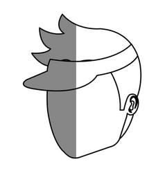 Golf player head avatar icon vector