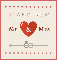 Heart theme wedding card vector