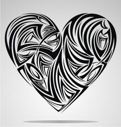 Heart Shape Tribal vector image
