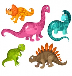 dinosaur set vector image