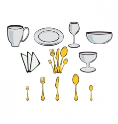 Kitchenware design elements vector