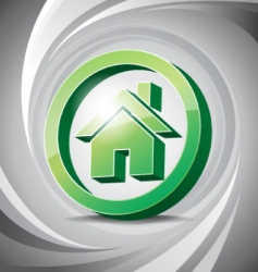 3D icon home vector image