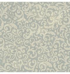 vintage floral aged pattern vector image