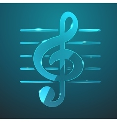 Glass music icon vector