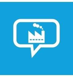 Factory message icon vector image