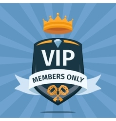 Vip club members only background vector