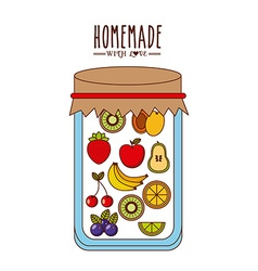 Homemade jam design vector