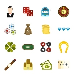 Casino flat icons vector