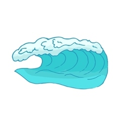 Water wave icon vector