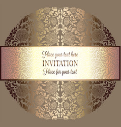 abstract background luxury beige and gold vintage vector image vector image