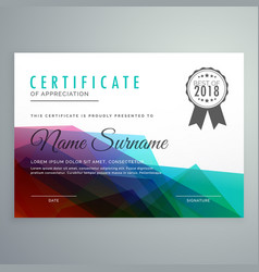 Abstract colorful certificate award diploma vector