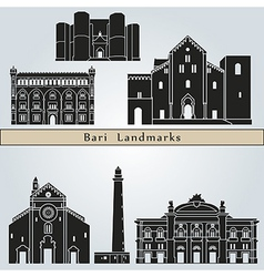 Bari landmarks and monuments vector image vector image