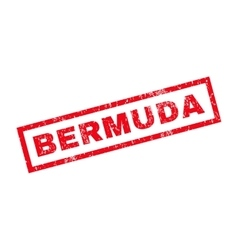 Bermuda rubber stamp vector