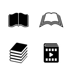 book simple related icons vector image vector image