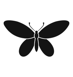 Butterfly with antennae icon simple style vector