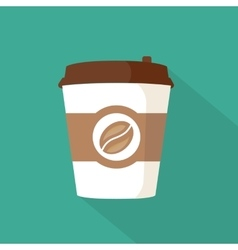 Coffee to go paper cup icon vector