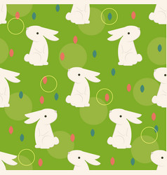 Easter bunny on the grass vector