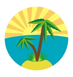 Flat palm icon vector image