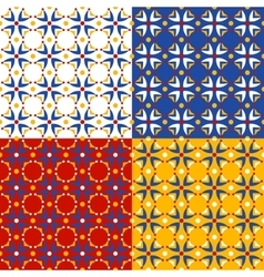 Four colorful floral patterns vector image vector image