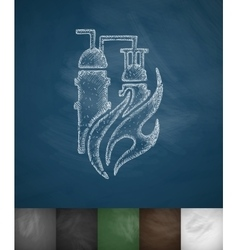 Gas and oil plant icon vector