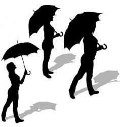 girl and umbrella vector image