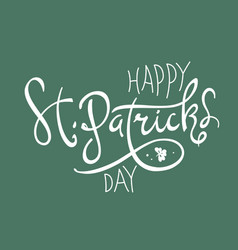 happy saint patricks day logotype celebration vector image vector image