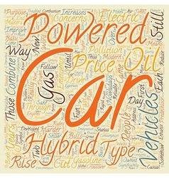 Hybrid vehicles 1 text background wordcloud vector