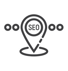 Local seo line icon seo and development vector