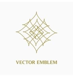 Logo design template creative monogram abstract vector
