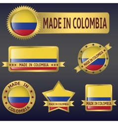 Made in colombia vector