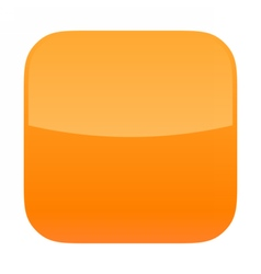 Orange glossy button blank icon square empty shape vector