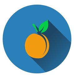 Peach icon vector