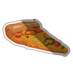 pizza slice vegetables cheese vector image