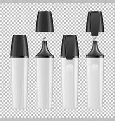 realistic closed and opened white empty vector image