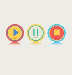 Round music play button vector