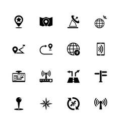 Satelite navigation - flat icons vector