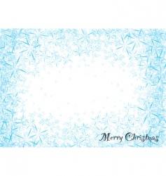 snowflake dust vector image