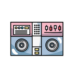 stereo to play and listen to music vector image vector image