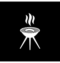 The grill icon Barbeque symbol Flat vector image